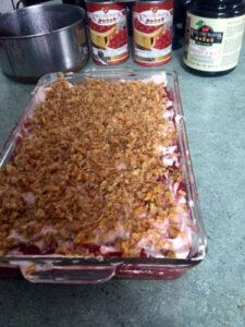 finished cherry pretzel torte